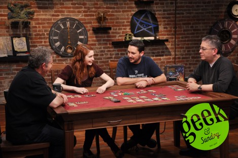 Wil Wheaton, Felicia Day, and friends getting their board game on