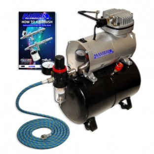 The Master Airbrush Single Piston Airbrush Compressor with Tank as sold on Amazon. All of this for only $89 plus shipping!