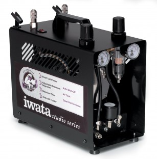 The silent and very pricey Iwata Power Jet Pro Airbrush Compressor