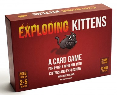 exploding kittens, card game, board game. game night, tabletop, family game