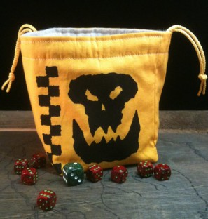 high quality dice bags by Greyed Out on Etsy
