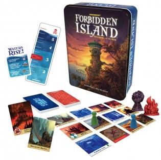 forbidden island. card game, board game, boardgames, game night, family game, tabeltop