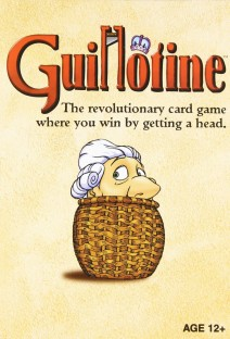 guillotine, card game, tabletop, board game, game night
