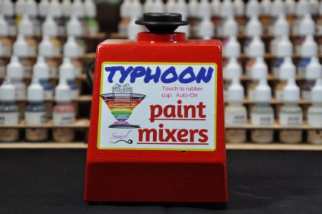 etsy, typhoon paint mixer, hobby paint mixer, airbrush paint, miniature painting,