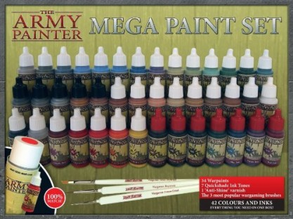 The Army Painter Mega Paint Set 2 is a great addition to the Mega Hobby Set and gives you an additional 42 paints, washes and more