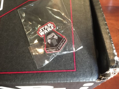 Kylo Ren pin from the FUNKO Star Wars Smugglers Bounty Box