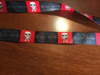 Star Wars The Force Awakens lanyard from the FUNKO Smugglers Bounty box