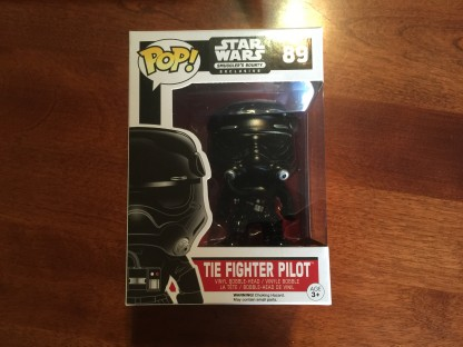 First Order TIE Fighter Pilot POP figure from the FUNKO Star Wars Smugglers Bounty box