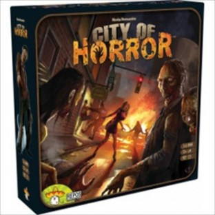 In City of Horror you'll need your persuasion and negotiation skills to outlast the other survivors board game zombies