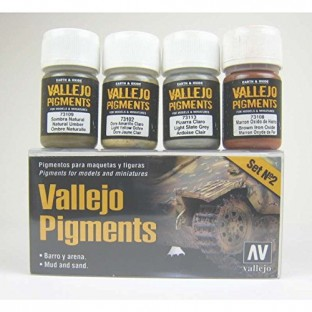 Weathering Pigment sets from Vallejo and Secret Weapon Miniatures will allow you to add that extra bit of realism to your miniatures and models