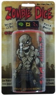 Zombie Dice - You're a zombie, eat brains, press your luck, don't get blasted! board games