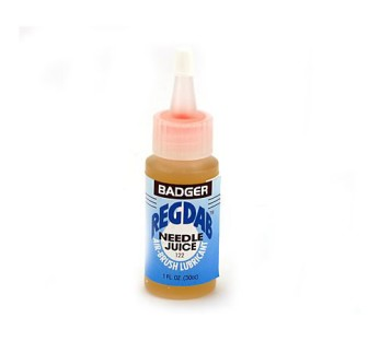 Badger REGDAB airbrush lubricant/needle juice for keeping your airbrush operating smoothly